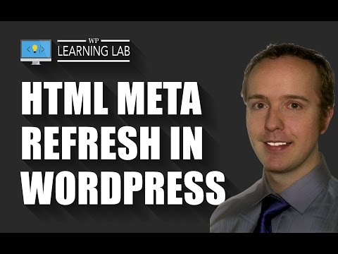 How to create an HTML meta refresh on your WordPress blog | WP Learning Lab