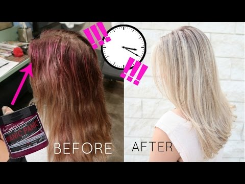 REMOVE Manic Panic DYE IN LESS THAN A MINUTE!!!