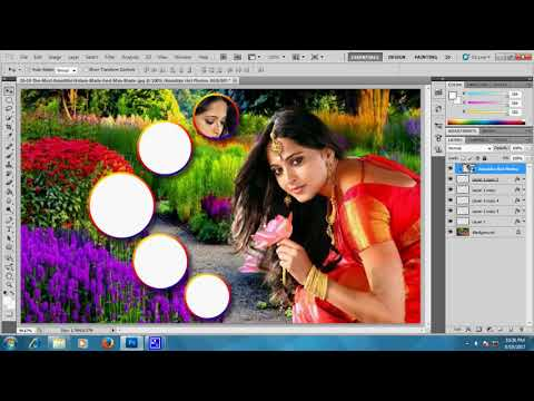 How To Create  A Circular Photo Collage In Photoshop cs5