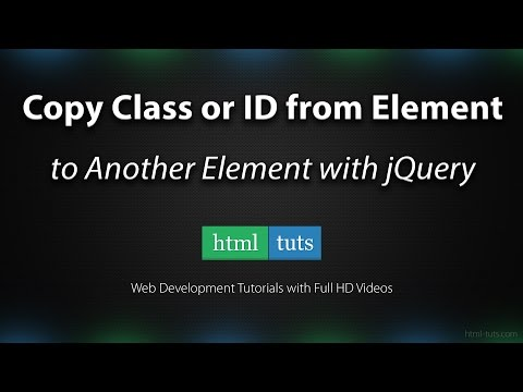 Copy Class or Id from One Element to Another Element