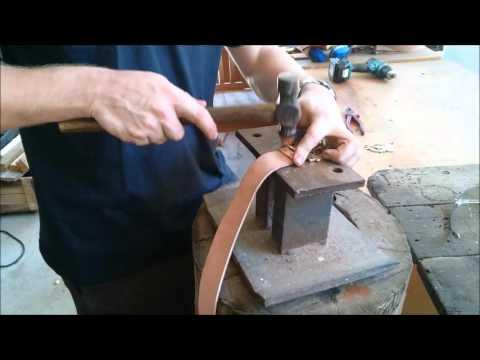 Make a Roman belt Part 1 - Fitting a Belt Buckle