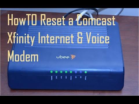 How To Reset Comcast Xfinity Internet Voice Modem
