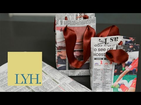 Turn Newspaper Into A Paper Bag | Go Green For 2015