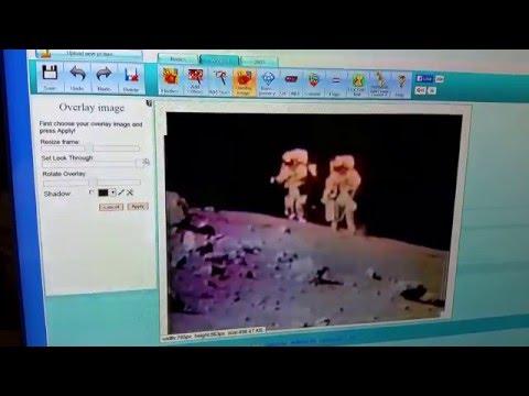 Moon landing video discrepency