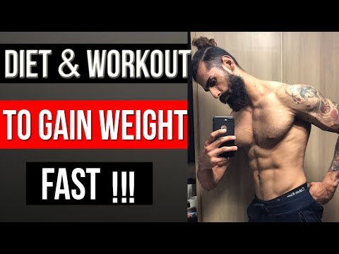 HOW TO GAIN WEIGHT In 2 Weeks (Men and Women) । Full Diet and Workout Plan