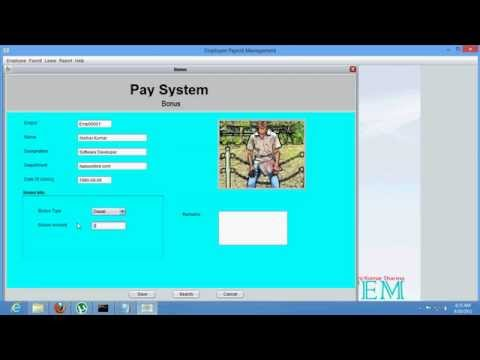 Employee Payroll Management(Pay System)