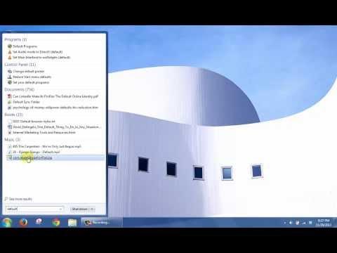 Change Default Web Browser to Microsoft Internet Explorer in Windows 7