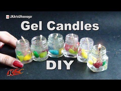 How to make Gel Candles in Waste color bottles |  JK Arts 956