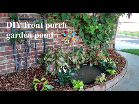 DIY front porch garden pond