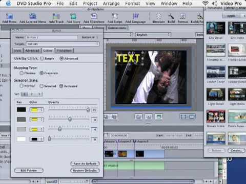 DVD Studio Pro Tutorial | 101 | Create Custom Buttons & Text