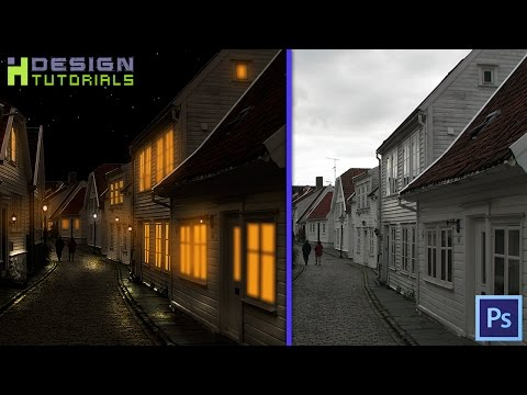 Day to night manipulation in photoshop