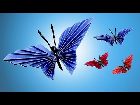 Easy Paper Butterfly Origami - Cute & Easy Butterfly DIY - Origami for Beginner
