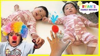 Make Twin Babies Smile Challenge with Ryan