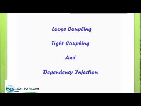 Dependency injection in spring with tight coupling and loose coupling