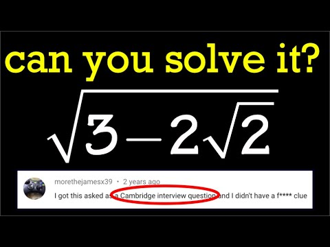 Math for fun, sqrt(3-2sqrt(2))=?