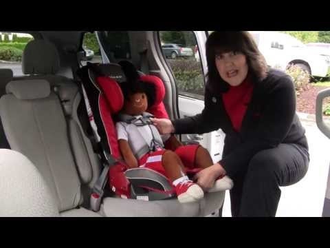 Adjusting the Harness Straps on a Diono Car Seat with Small Harness Pads
