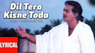 Lyrical Video: Dil Tera Kisne Toda | Dayavan | Vinod Khanna, Feroz Khan