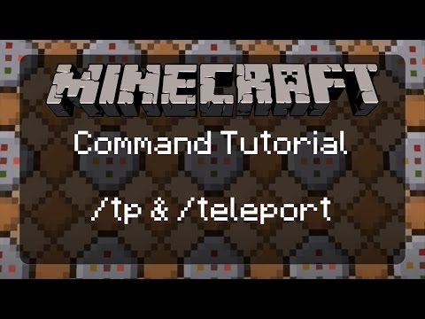 Using Commands in Minecraft: /tp & /teleport with an Explanation of Relative Positioning | 1.11.2