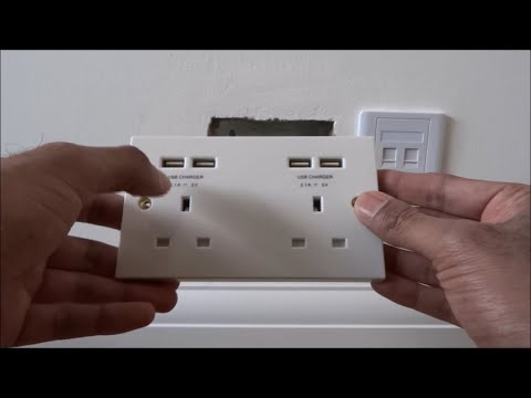 How To Install / Fit a USB wall socket