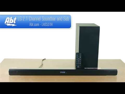 LG 2.1 Channel Soundbar And Wireless Subwoofer LAS551H - Overview