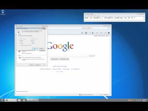 Internet Explorer 8 - How to enable cookies
