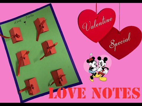 Let's make a love note for your love (valentine special) DIY