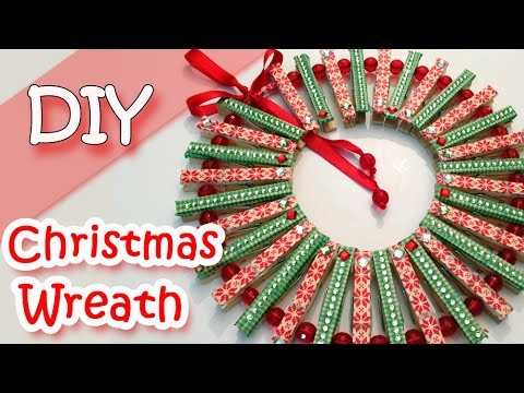 Christmas Wreath with Clothespins.Christmas Decorations - Ana | DIY Crafts