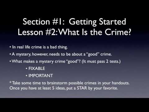 What is the Crime? (Another Short Mystery Writing Lesson for Kids 8-12)
