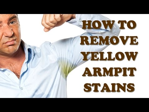 Yellow Armpit Stains - How to Remove Yellow Armpit Stains - Stains Removal