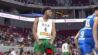 Jalen Green POSTERIZES 7 Footer Kai Sotto AGAIN! Filam Sports USA Defeats Ateneo 90-67