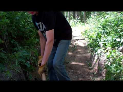 Mountain Bike Trail Building EP 4 Fixing Washouts and Adding Drainage