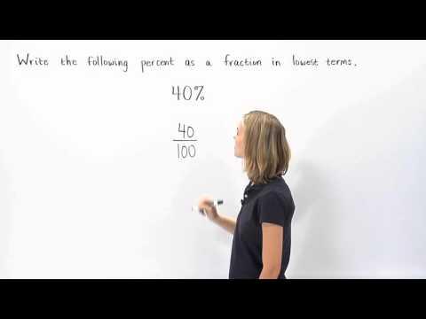 Percent to Fraction | MathHelp.com