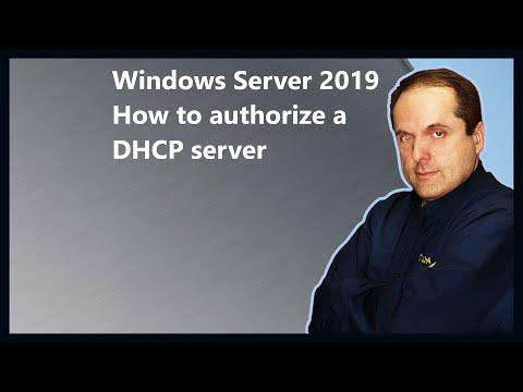 Windows Server 2019 How to authorize a DHCP server