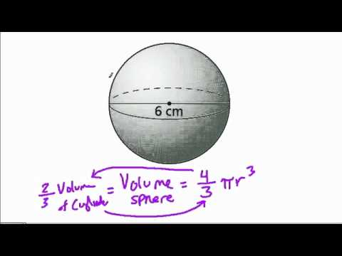 Volume of a Sphere Given Diameter
