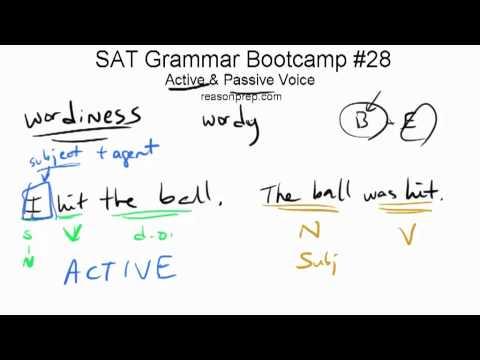 *OLD* Active & Passive Voice, SAT Grammar Bootcamp #28