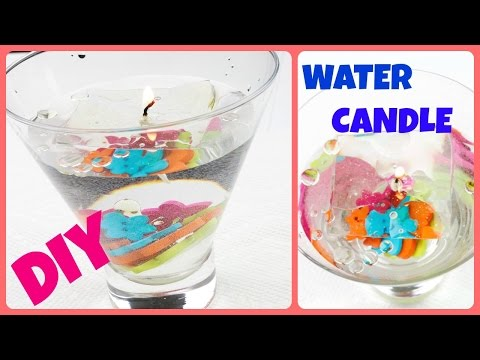 How to make water candle - DIY Candles with water inside !!!