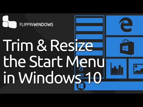 Trim & Resize the Windows 10 Start Menu