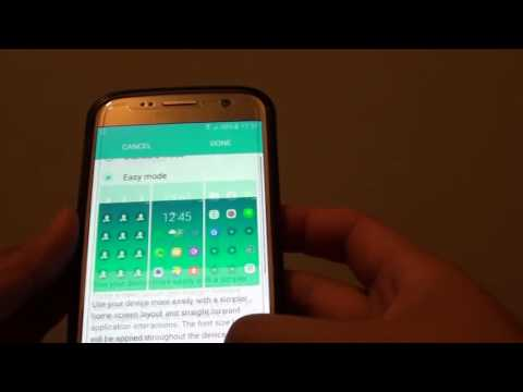 Samsung Galaxy S7: How to Change Home Screen Layout to Standard / Easy Mode