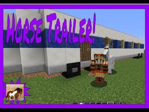 Minecraft Tutorial~ My Horse Trailer
