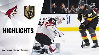 NHL Highlights Coyotes Golden Knights 112919