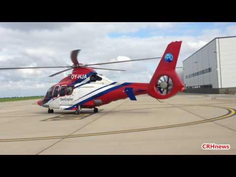 CRHnews - North Sea oil Dancopter 'topgun' takes breath away Norwich Airport