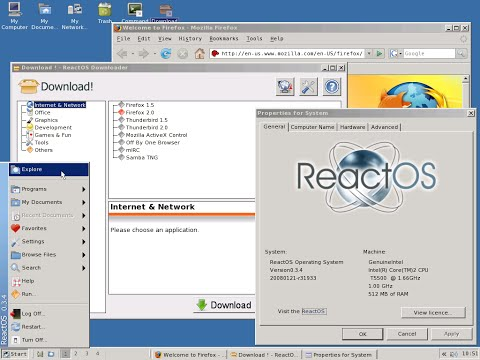 ReactOS in Action - Free and Open Source Windows for All