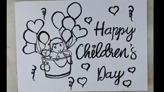 Children Days Drawing For Kids How To Draw Bal Divas Drawing The