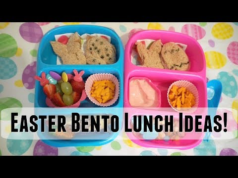 Easter Bento School Lunches!