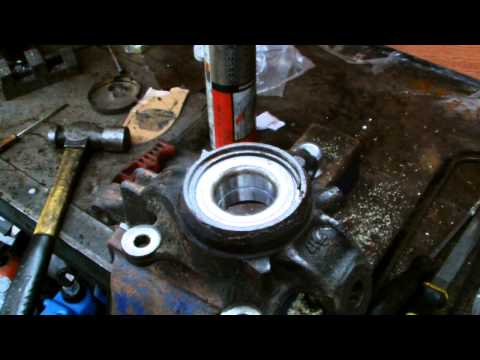 HOW TO INSTALL A FRONT WHEEL BEARING ON A NISSAN