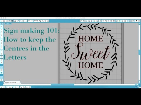 Stencil Making 101- How to keep the centres in the letters