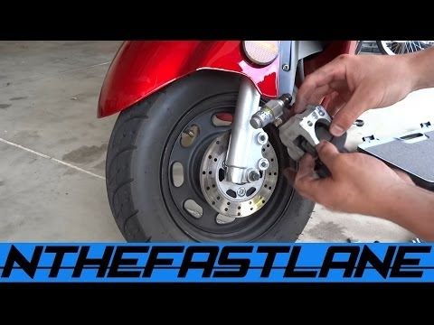 Replace Scooter Front Brakes & Adjust Rear Brake