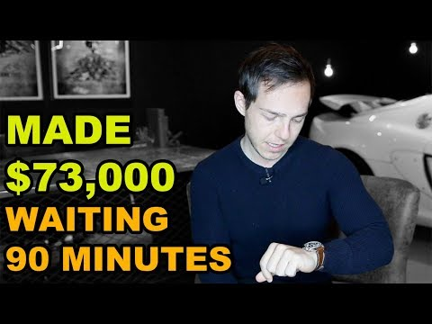 How I made $73,000 by waiting 90 minutes in Real Estate