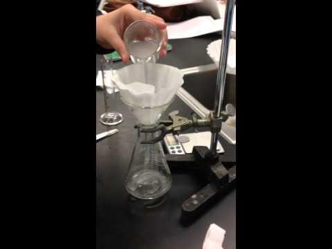 CHEMISTRY LAB: FILTERING TO MAKE LIMESTONE(CHALK)