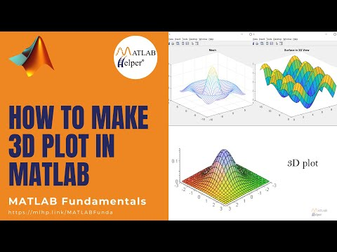 How to make 3-Dimensional Plot in MATLAB | MATLAB Tutorial